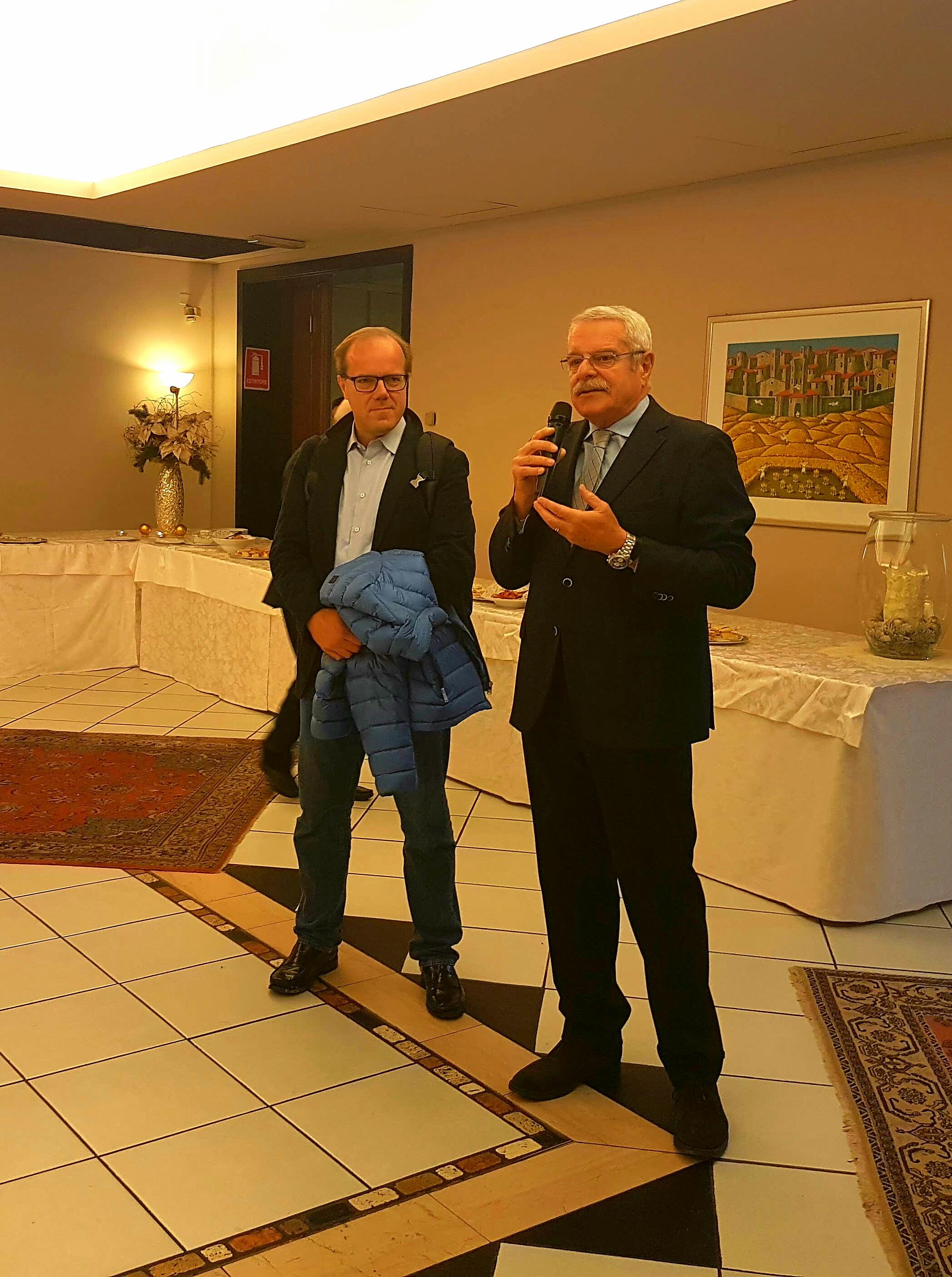 Il Presidente e il dott. Cernetti