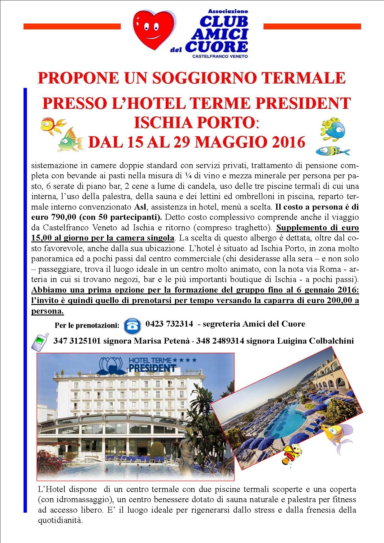 Soggiorno termale Ischia | Club Amici del Cuore